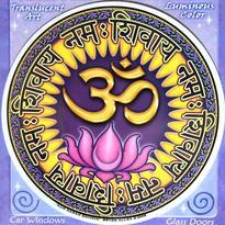 Mandala na sklo - Om namah shivaya