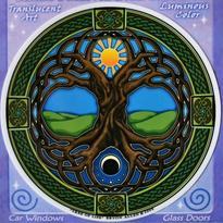 Mandala na sklo - Keltský strom života