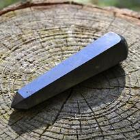 Masážní hůlka šungit broušená 8 cm