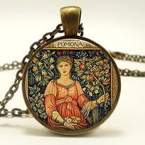 Medailon - Bohyně Pomona
