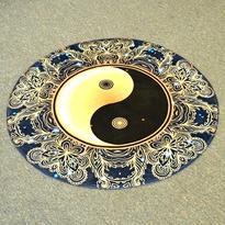 Meditační kobereček Jin Jang kulatý, 80 cm průměr