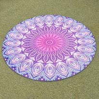 Meditační kobereček Fialová Mandala kulatý, 80 cm