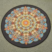 Meditační kobereček Mandala Hvězda kulatý, 80 cm