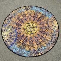 Meditační kobereček Modrá Mandala kulatý, 80 cm