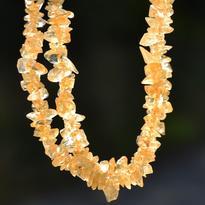 Náhrdelník citrín tamblovaný, 45 cm