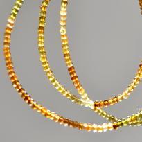 Náhrdelník Granát hessonit Extra microrondely