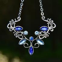 Fantasy náhrdelník Jiné Světy, modrý