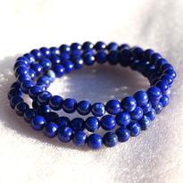 Náhrdelník lapis lazuli, kuličky 3 mm