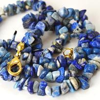 Náhrdelník lapis lazuli, tamblovaný, 45 cm
