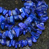 Náhrdelník lapis lazuli, tamblovaný, 90 cm