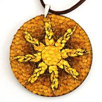 Náhrdelník Nebeský Kruh - Kolekce Baltic jantar