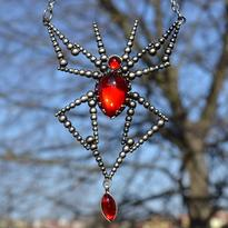 Fantasy náhrdelník Pavouk - kouzelník