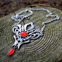 Fantasy náhrdelník Síla Života, červený