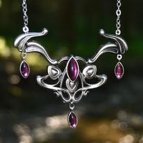 Fantasy náhrdelník Svět vílích bytostí, růžová