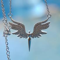 Náhrdelník Bílý Anděl, stříbro Ag 925/1000