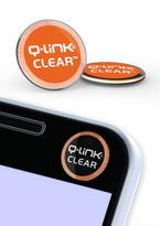 Nálepka Q-Link biorezonátor CLEAR, oranžová