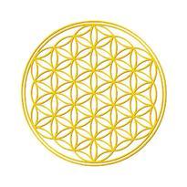 Nálepka set 4 + 1 - Květ života, zlatá