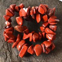 Náramek jaspis červený, tamblovaný