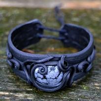 Fantasy náramek Magická ochrana, obsidián