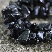 Náramek onyx černý, tamblovaný