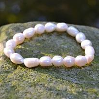 Náramek perly říční bílé velké