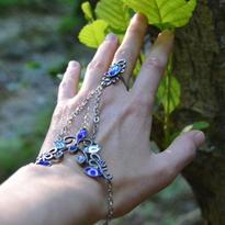 Fantasy náramek s prstenem Jiné Světy, modrý