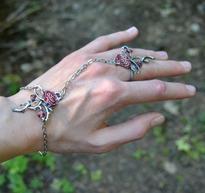 Fantasy náramek s prstenem Magic - Kouzlo růží