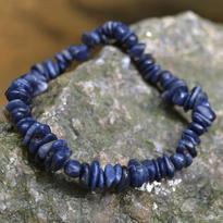 Náramek Safír modrý, tamblovaný
