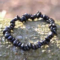 Náramek turmalín černý skoryl tamblovaný