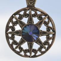 Amulet Nebeský kruh s modrým krystalem