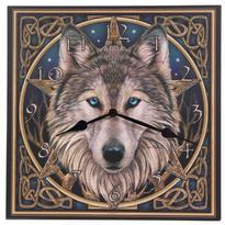 Nástěnné hodiny s vlkem