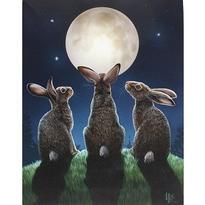 Obraz fantasy - Měsíční králíci, Lisa Parker