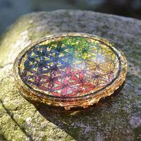 Orgonitová podložka pod sklenici Květ Života 7 cm