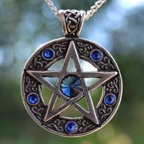 Amulet Keltský pentagram - Modrá Hvězda