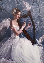 Přání - Anděl hrající na harfu