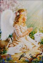 Přání s malinkým dětským andílkem