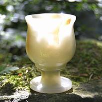 Broušený pohárek onyx - aragonit 7,5 cm