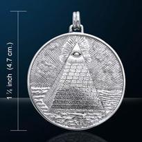 Amulet Mystická pyramida, postříbřený