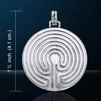 Amulet Mystický labyrint, postříbřený