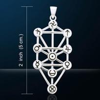 Amulet Sefirot strom života - kabala, postříbřený