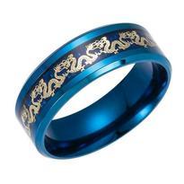 "Prsten ""Draci"" modrý vel. 63/64"
