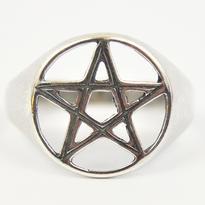 Prsten Pentagram stříbro Ag 925/1000 - vel. 63