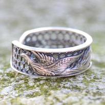 Stříbrný prsten s Fénixem