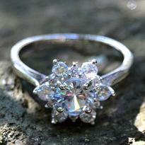 Prsten Vločka sněhu - velikost 56