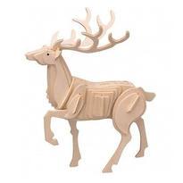 Dřevěné 3D puzzle Zvířata - Jelen