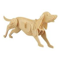 Dřevěné 3D puzzle Zvířata - Pes