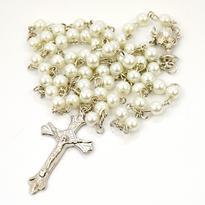 Růženec se skleněnými perlami