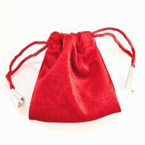 Sametový sáček 9 x 9 cm, červený