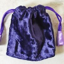 Sametový sáček 9 x 9 cm, fialový