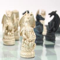 Dračí šachy exclusive se skleněnou hrací deskou